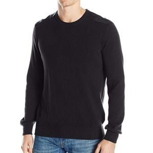 Kenneth Cole Reaction Sweater Black W/ Trim Small